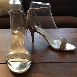 Bandolino Gold Silver Muriel Wedding Strappy Heel